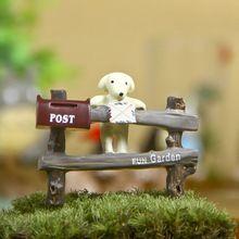 Suculentas moss aquário Micro paisagem paisagismo Do Jardim de Fadas Miniaturas enfeites de resina Artesanato Decorativo caixa de correio do Filhote de Cachorro(China (Mainland))