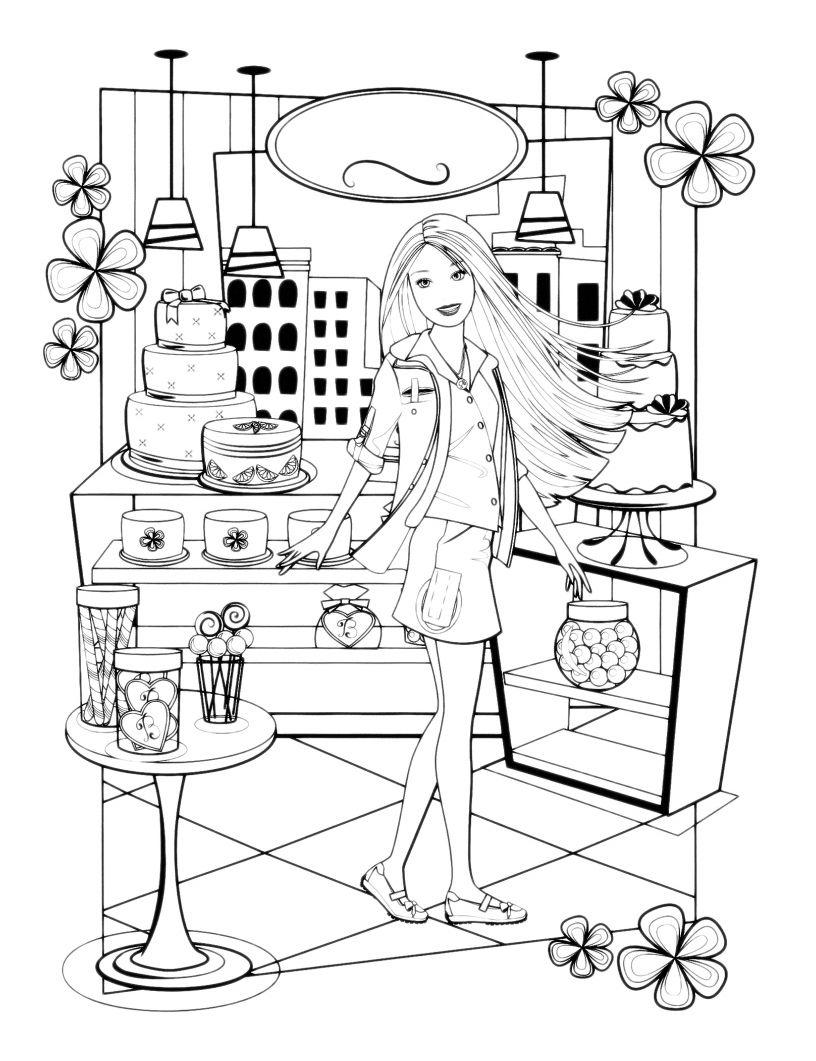 30 Attività Casa Di Barbie Da Colorare Galleria Di Immagini