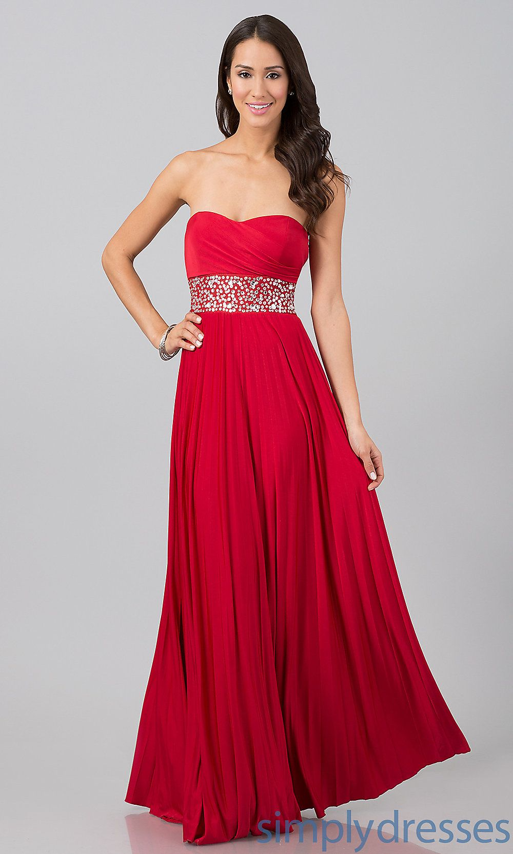Dress floor length strapless dress simply dresses red red red