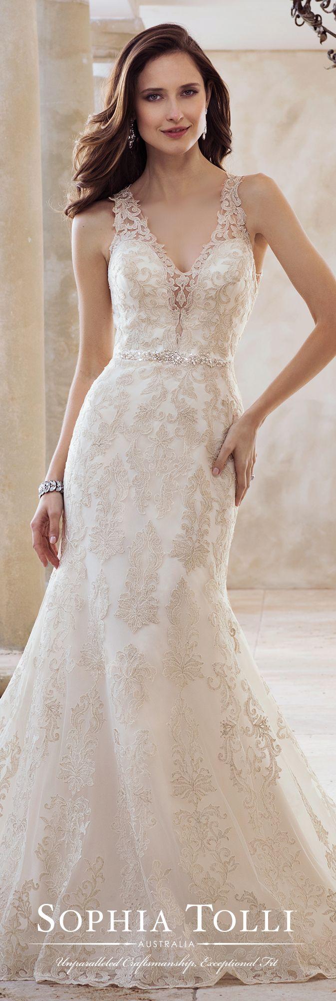 5df2fbda1086 2-Piece Beaded Lace Fit   Flare Wedding Dress - Y11883 Olympia ...