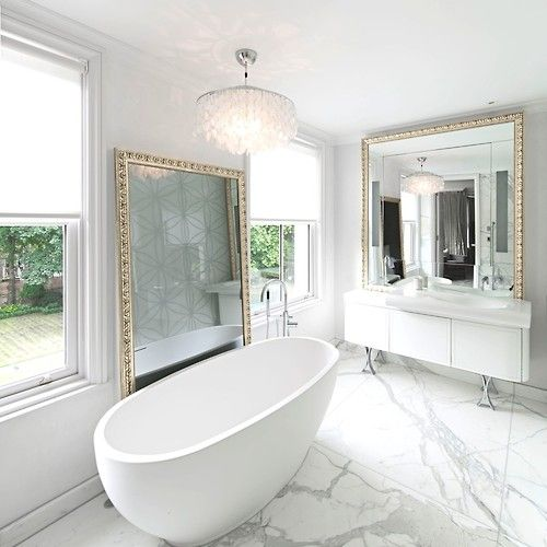 luxury london property  white bathroom designs modern