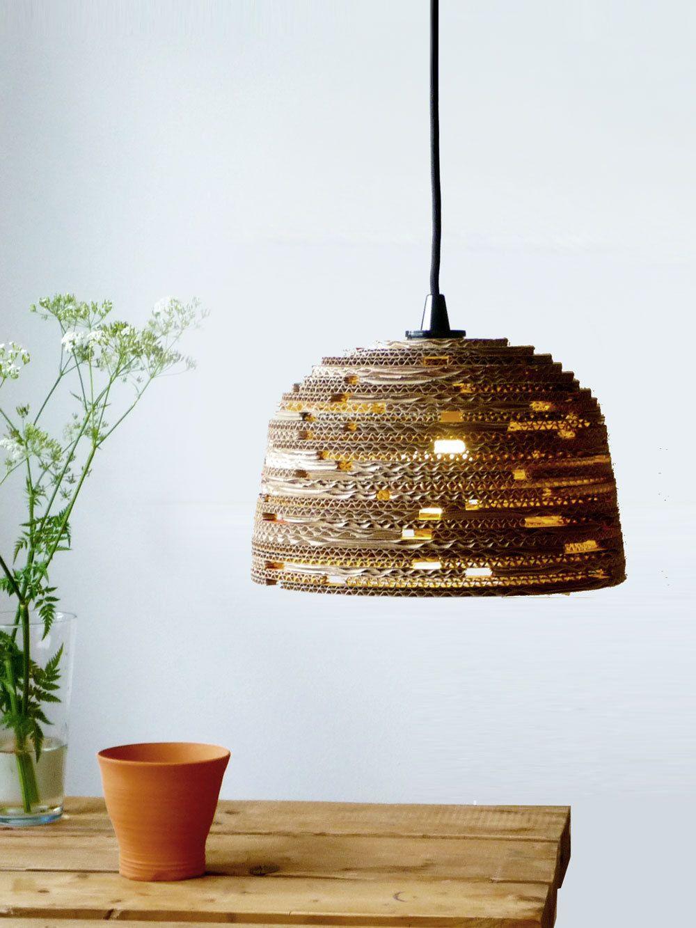 Fair design pendant lamp from reused cardboard  DIY