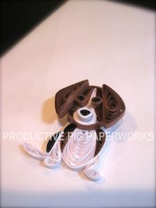 Dog Lovers :: Quilled Beagle (Brown, Black, White)