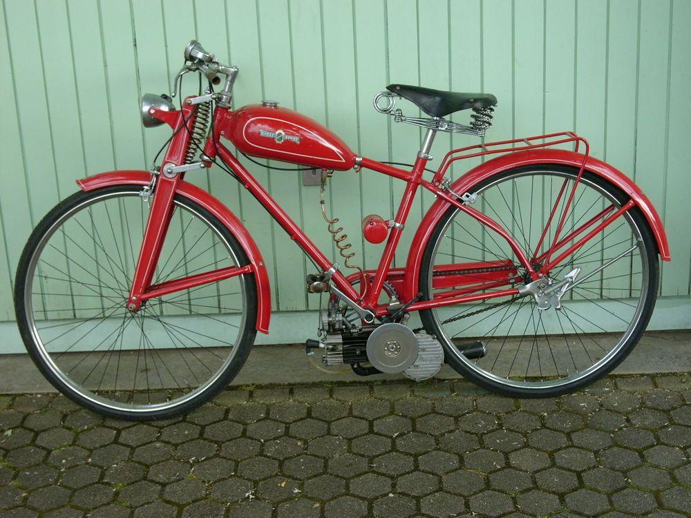 Garelli Mosquito Cicli Stars Fahrrad Mit Hilfsmotor Von 1955