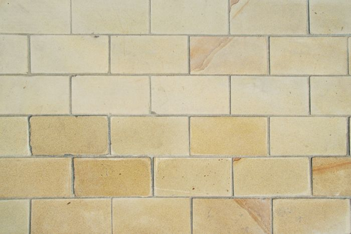 Buff Yorkstone Setts Paving Stones Country Cottage Garden Exterior Stone