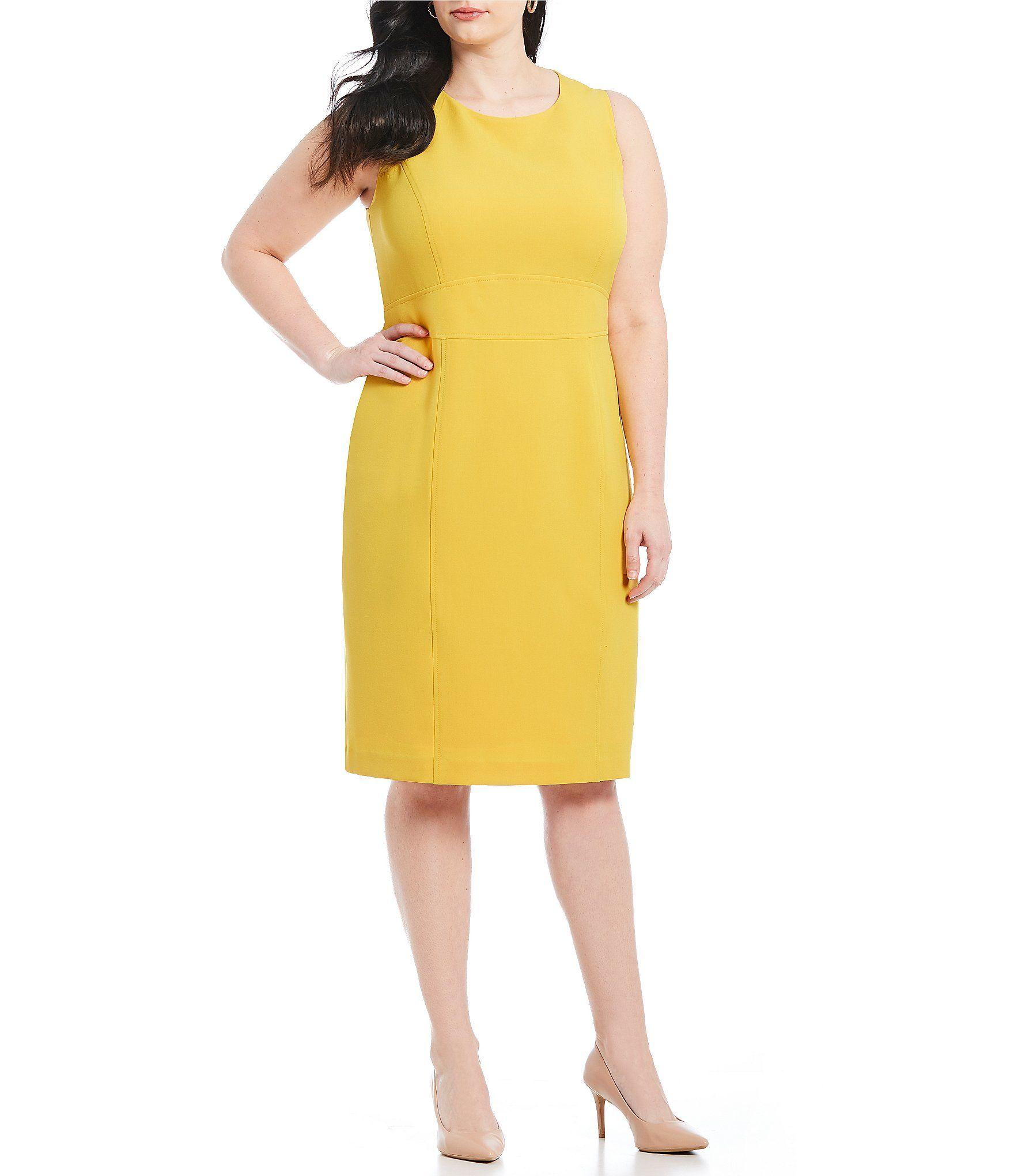 Kasper Plus Size Crepe Sleeveless Sheath Dress #Dillards ...