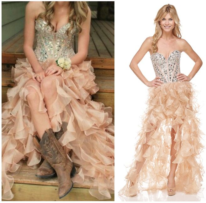 b69b68b5b2 Sherri Hill Prom Dresses with Cowgirl Boots