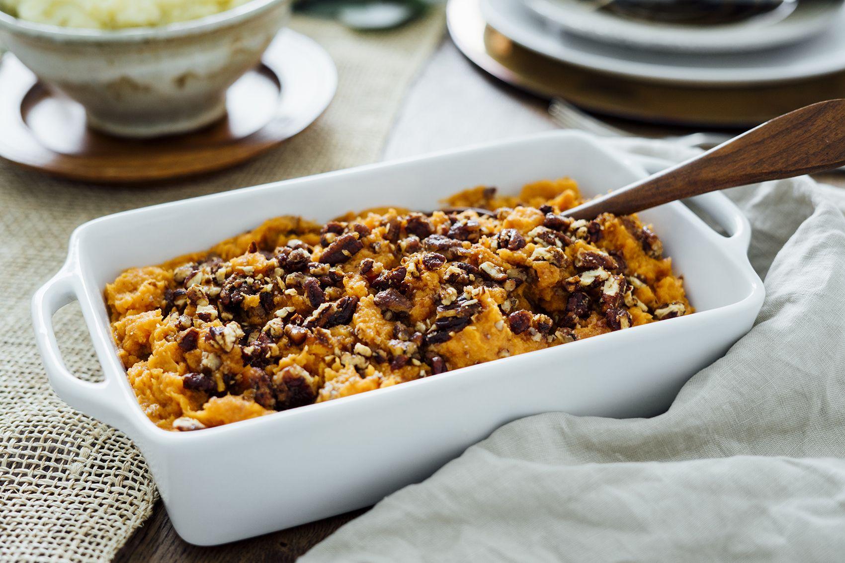Thanksgiving Turkey, Sides and Pies Sweet potato pecan