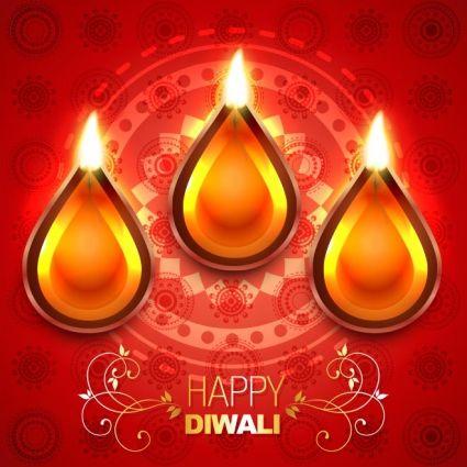Free vector top view of diya happy diwali greeting card kerst 2015 free vector top view of diya happy diwali greeting card m4hsunfo