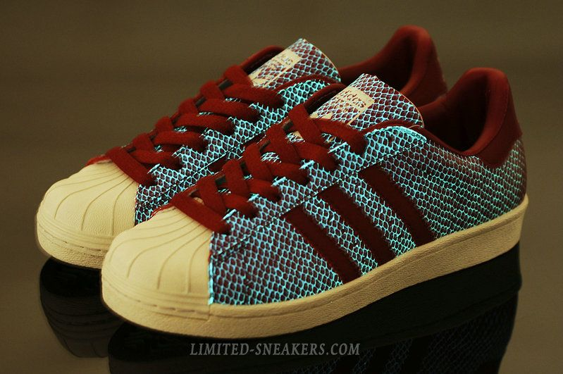 42f39bd84 ... usa adidas atmos glow in the dark superstar 80s g snake iv red shoe  fa717 43873