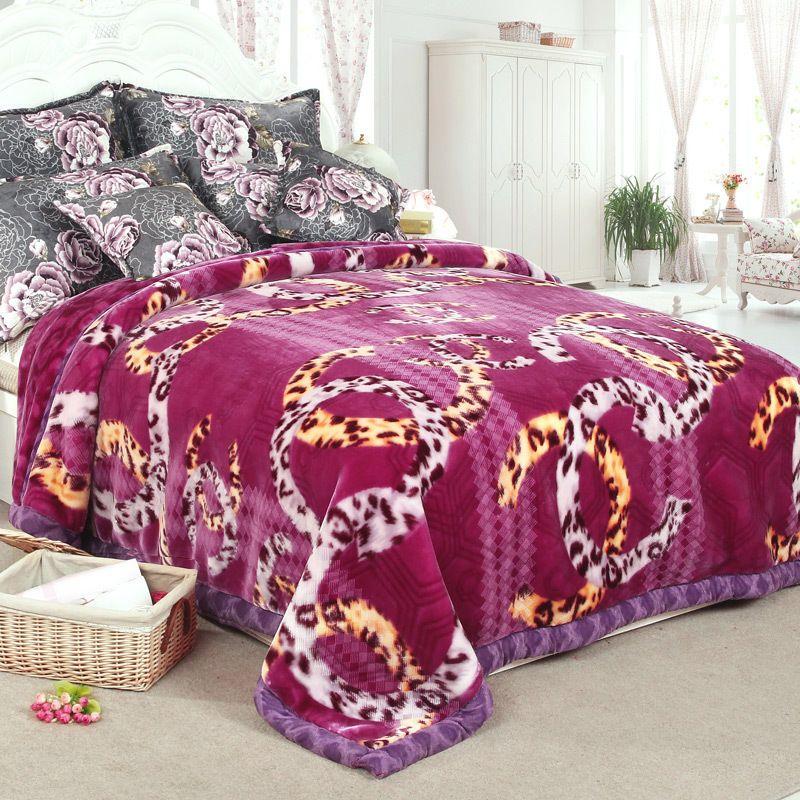 edace6515b 5kg thicker blanket winter warmth bed cover sheet Raschel double layer  blankets #FEIYIBAN #Mediterranean