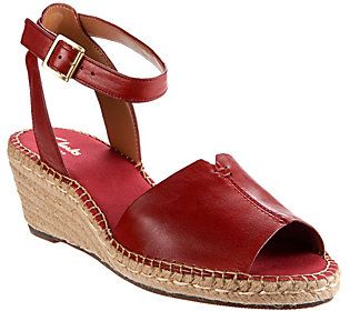 b9003d1a506e Clarks Artisan Leather Espadrille Wedge Sandals - Petrina Selma ...
