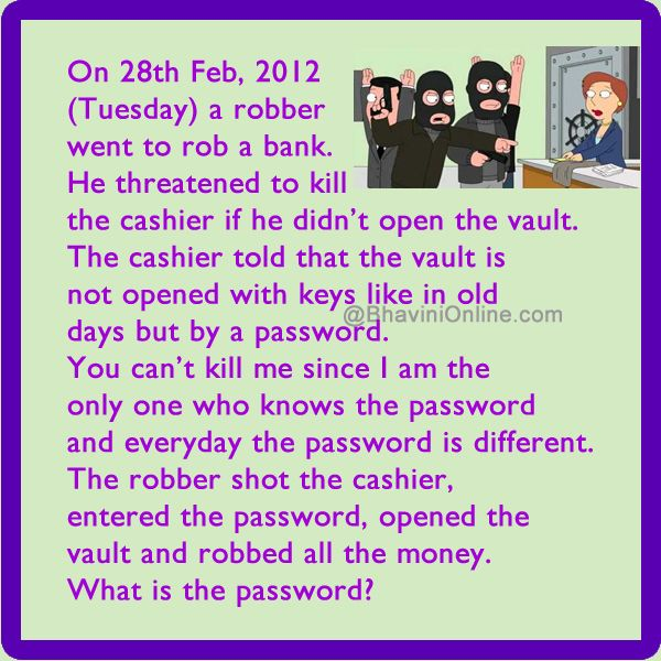 WhatsApp Riddle: What is The Password Of The Bank Vault?   Riddles