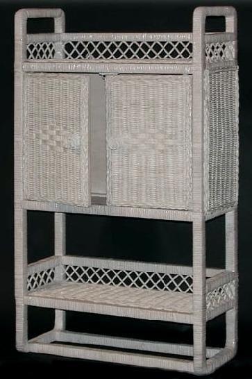 wicker bath shelf w towel bar shown in beige 132 22 19x8x32 rh pinterest com