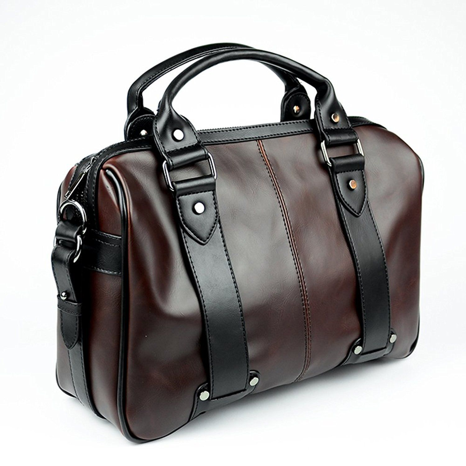 Men's Faux Leather Business Handbag Briefcase Men Vintage Messenger Laptop Bag >>> Continue to the product at the image link.