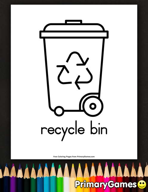 Earth Day Coloring Pages eBook: Recycle Bin | Coloring Pages ...
