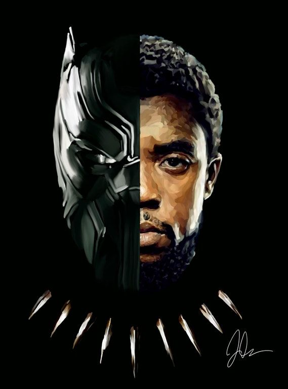 Black Panther/T'Challa (digital painting)