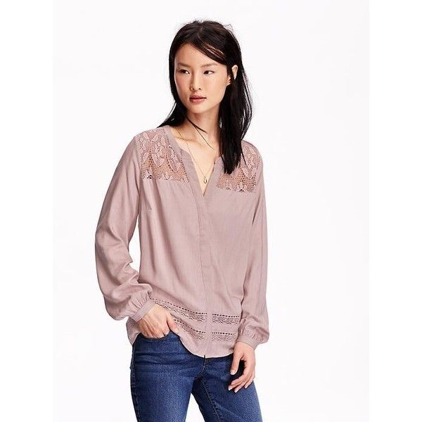 Old navy womens lace inset blouses 33 liked on polyvore old navy womens lace inset blouses 33 liked on polyvore featuring tops sciox Images