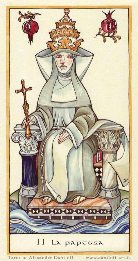 The Priestess - Alexander Daniloff Tarot