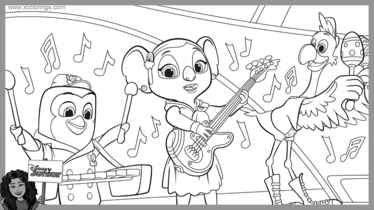 TOTS Pip and KC Koala Coloring Pages.  Unicorn coloring pages