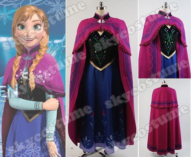 Details zu Film Frozen Prinzessin Anna Kostüm mit Mantel [DE] | Anna ...