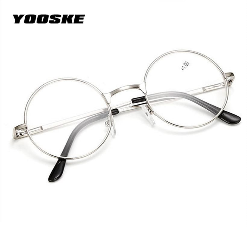 617e0c1aa25 YOOSKE Retro Men Women Round Mirror Reading Glasses For Harry Potter Metal  Frame Glasses Mirror Personalized