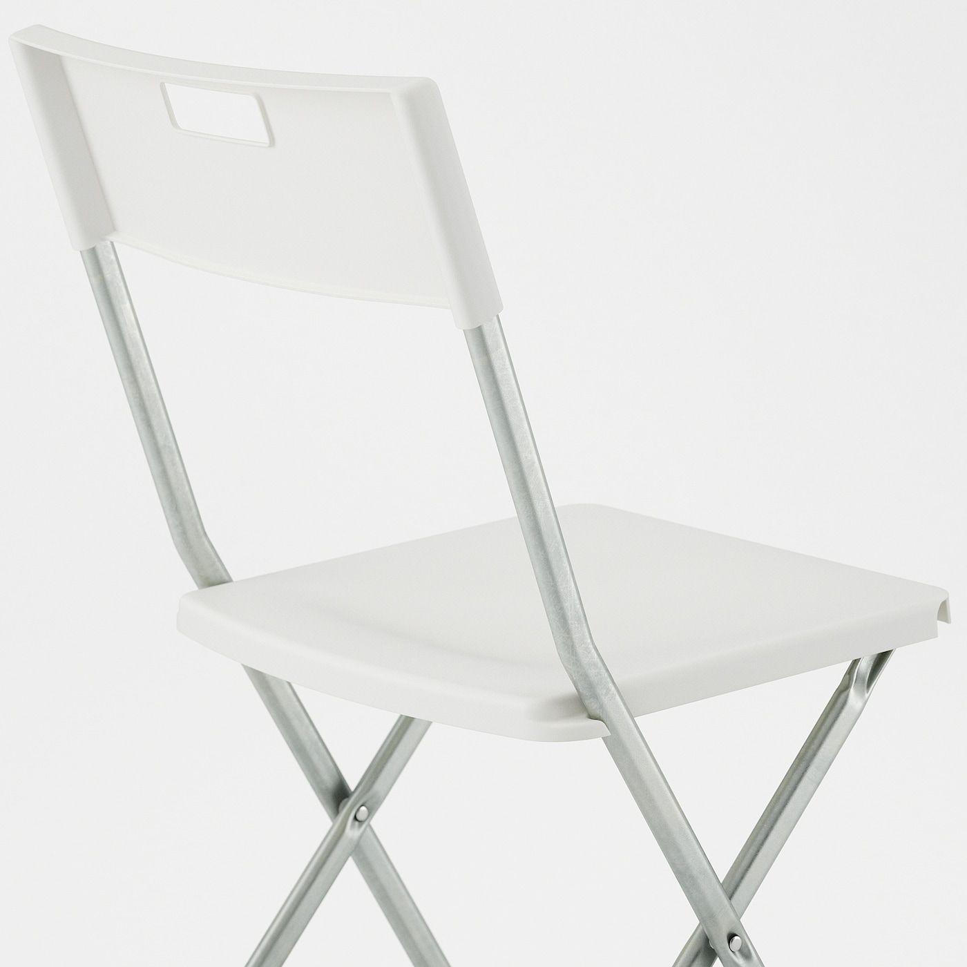 Gunde Folding Chair White In 2020 Folding Chair Chair Ikea