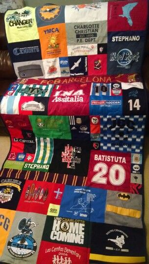 Soccer player's T-Shirt Quilt by Bobbin Threads
