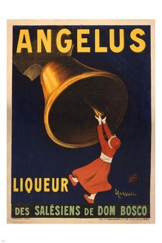 ANGELUS liquor of the salesians of dom bosco VINTAGE AD POSTER 24X36 rare