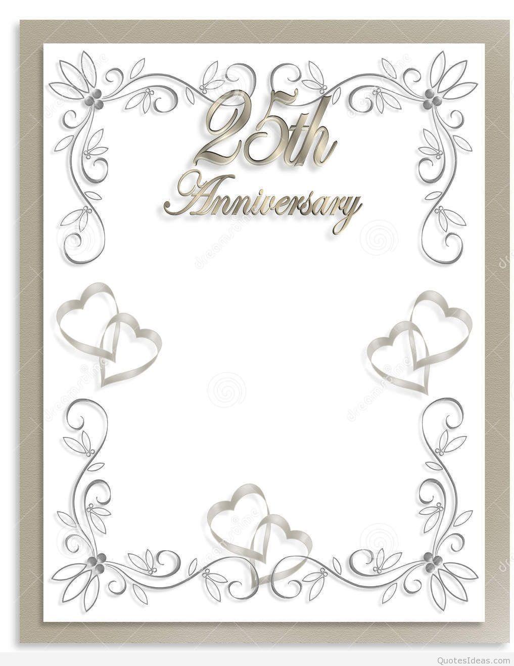 Free Silver Wedding Anniversary Invitations Templates Throughou Silver Wedding Invitations Wedding Anniversary Invitations 25th Wedding Anniversary Invitations