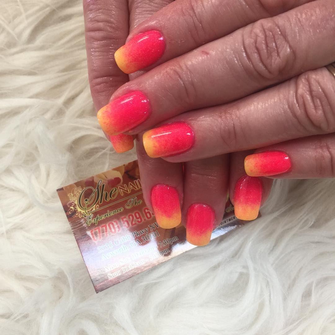 Summer SNS dipping powder ombré #shenails #naildesign # ...