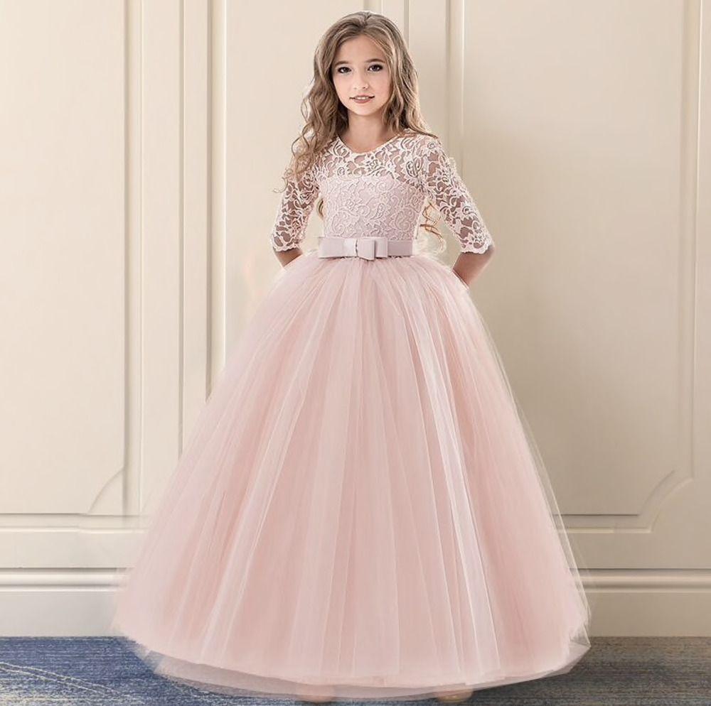Vestidos De Fiesta Para Niña De 6 Años 7 A 14 Años Largos De