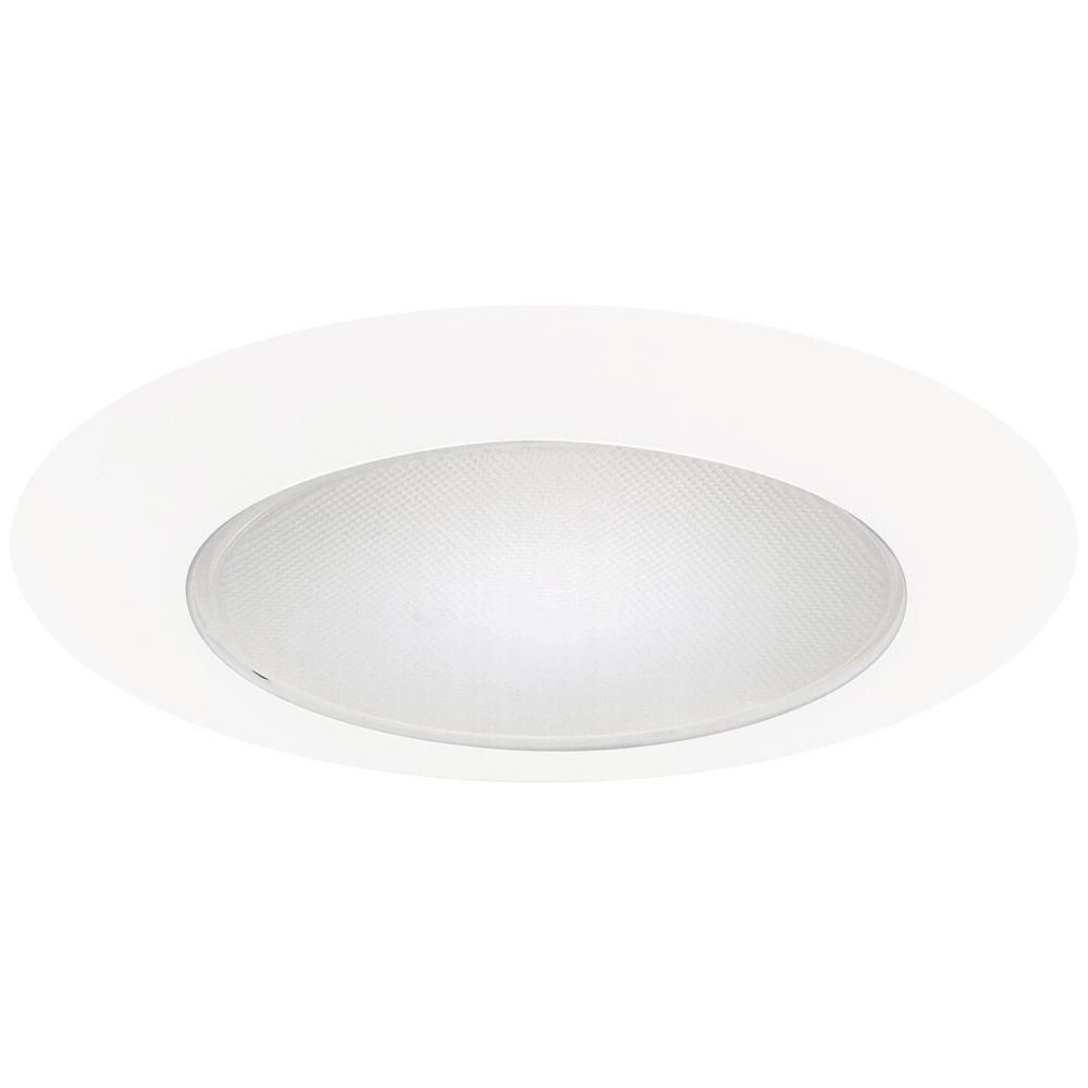 Halo 6 in white recessed lighting albalite glass lens trim products halo 6 in white recessed ceiling light albalite glass lens trim 70p the home depot mozeypictures Gallery