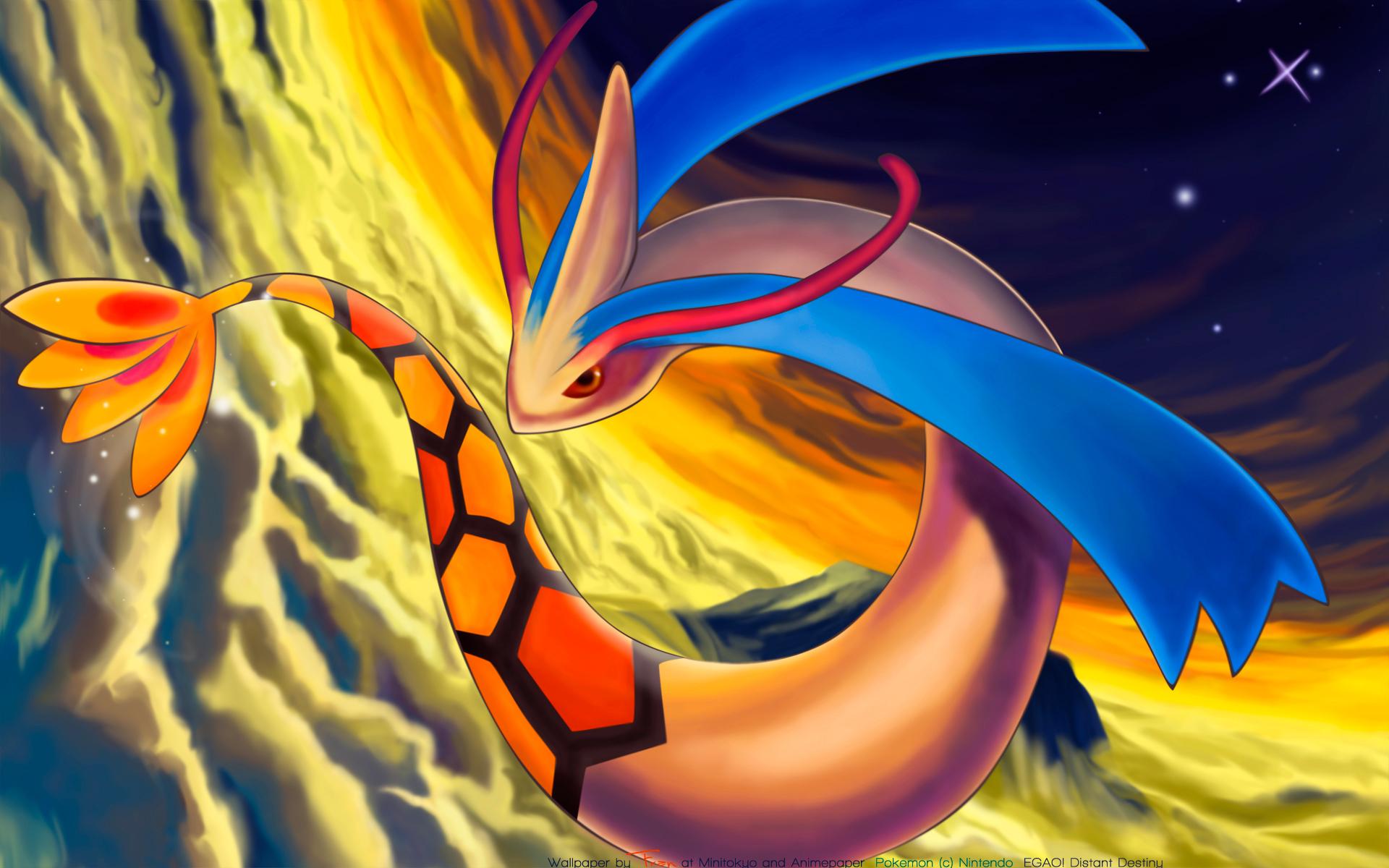 Shiny Milotic Oras Pokemon Hd Wallpaper Download High Quality