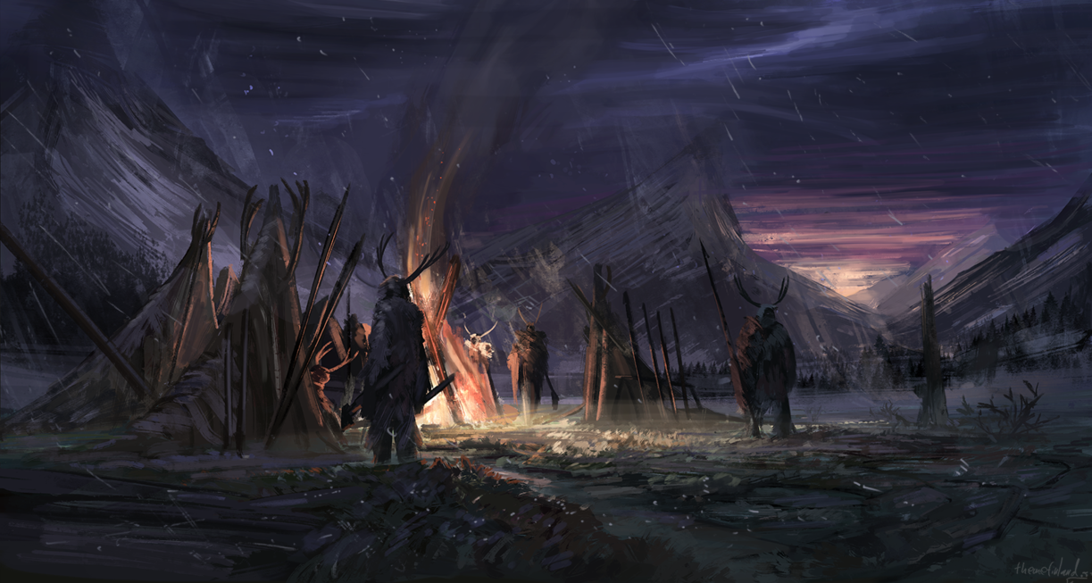 Bandit camp (commission) by ThemeFinland