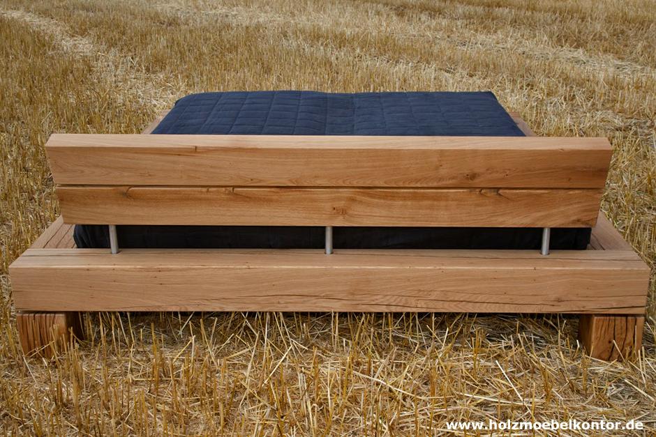 naturholz balken bett betten aus massiven holzbalken bett holz und holzbett