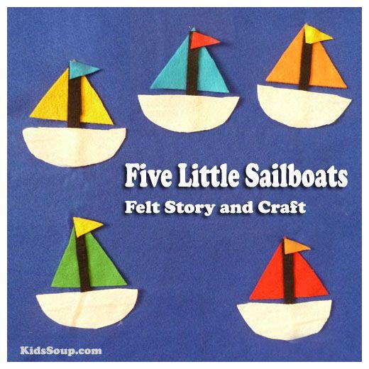 Felt Sailboats Art Crafts