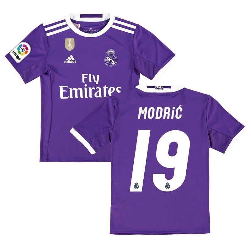 Modric Real Madrid Adidas Youth 2016 17 Away World Cup Champions Patch Replica Jersey Purple Ronaldo Real Madrid Club World Cup Real Madrid