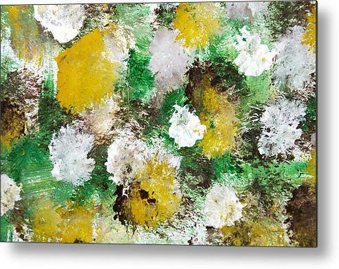 Forest Abstract Painting Metal Print By Christina Rollo