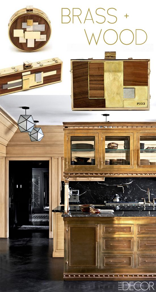 Brass and wood decor #home #design DARLING DWELLING Pinterest