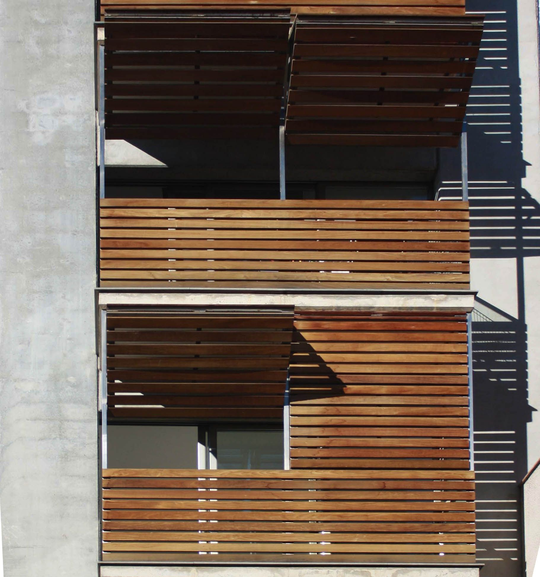 Wooden Louvered Shutter Protecting Balcony 213 Filt3rs