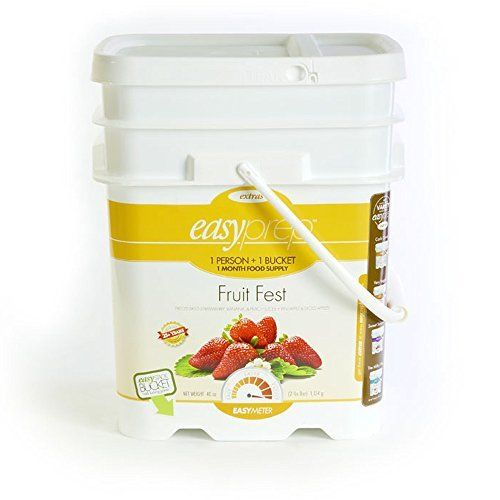 EasyPrep Fruit Fest 1-Month Emergency Food Storage Supply, Freeze-Dried Fruits, Variety, Snack (168 total Servings) by EasyPrep. EasyPrep Fruit Fest 1-Month Emergency Food Storage Supply, Freeze-Dried Fruits, Variety, Snack (168 total Servings). 5.3 Gallon.