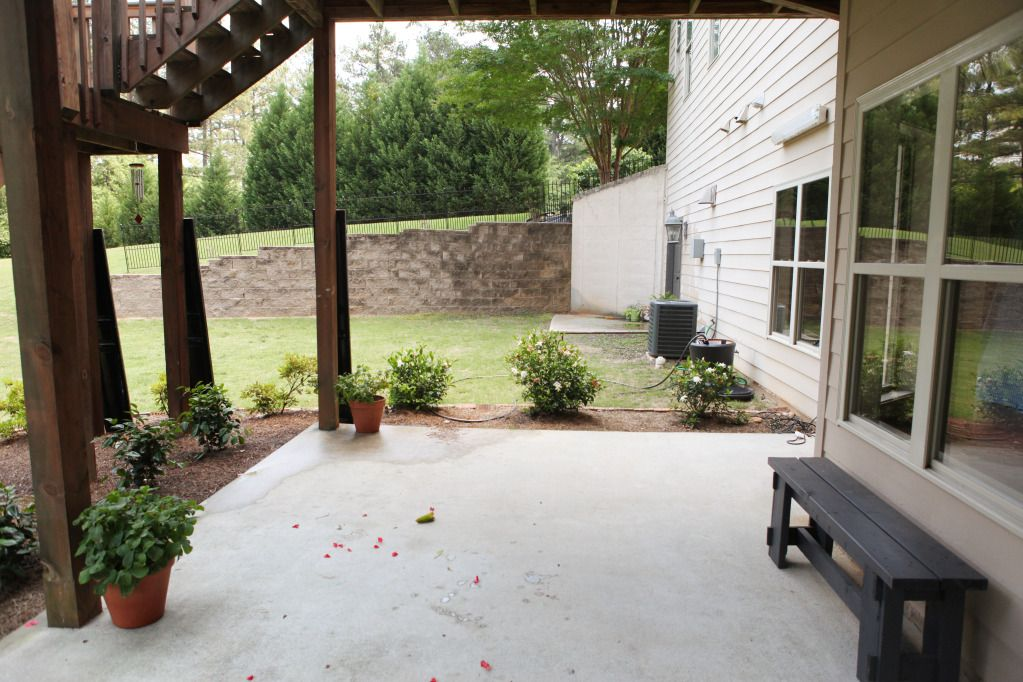 Backyard Concrete Slab Ideas how to lay a diy concrete patio Concrete Slab Under Deck