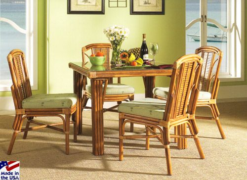 Bayview Cane Square Dining Setsclassic Rattan  Wicker Entrancing Indoor Wicker Dining Room Sets Design Inspiration