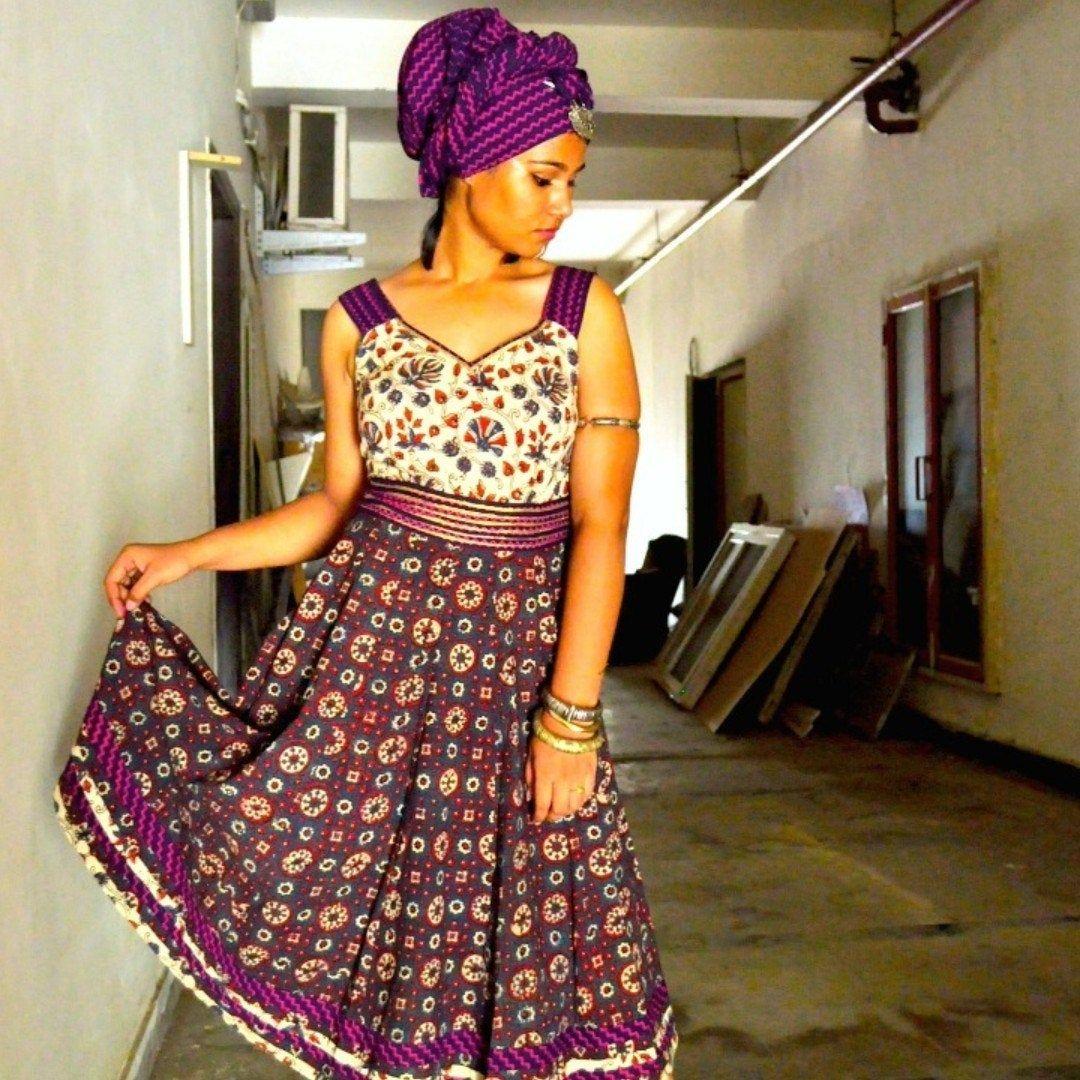 Beautiful Sundress Summer Dress Easy Wear Boho Wear Women S Clothing In Ajrak Have Block Print Fabric Bohemian Cotton Dresses Boho Summer Dresses Boho Wear [ 1080 x 1080 Pixel ]