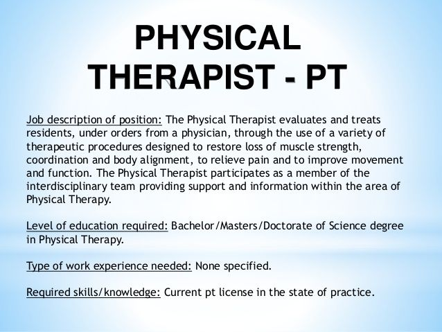 Physical Therapy Job Description Via Nbc News Careers Want A Better - physical therapist job description