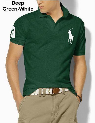 Ralph Lauren Men Classic-Fit Big Pony Polo dark Green White