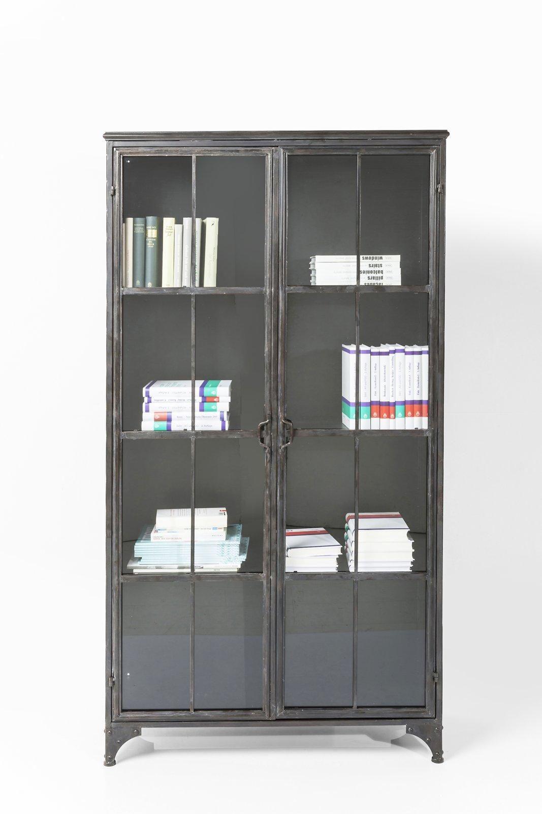 vitrine factory ein schrank aus stahl und glas passt in jedes ambiente im industriestil und. Black Bedroom Furniture Sets. Home Design Ideas