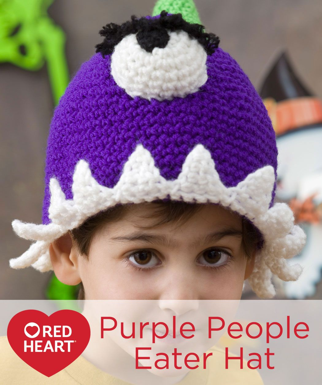 Purple people eater hat free crochet pattern in red heart yarns purple people eater hat free crochet pattern in red heart yarns costume patternshalloween bankloansurffo Image collections