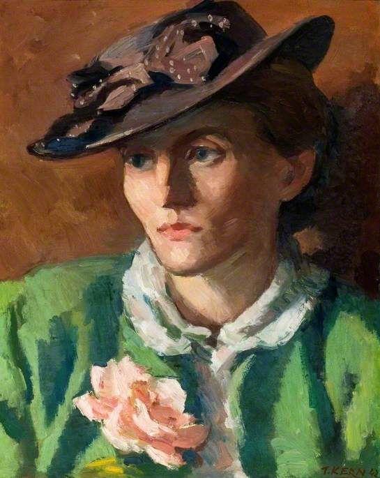 theodor kern(1900–69), miss m. b., 1942. oil on canvas, 50 x 39.5 cm. letchworth…